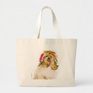 Il Love Lhasa apso Large Tote Bag