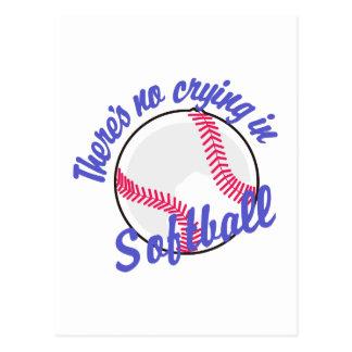 Il n'y a aucun pleurer dans le base-ball cartes postales