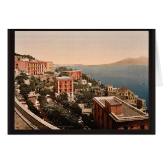 Il Posilippo and waterfront, Naples, Italy vintage Card