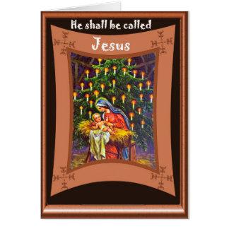Il s'appellera Jésus Carte De Vœux