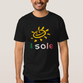 Il Sole The Sun in Italian Summer Vacation T Shirts