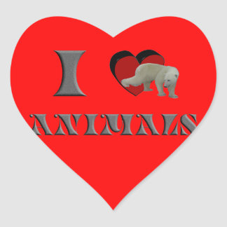 ILA polar bear Heart Sticker