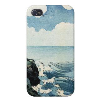 Île de Kojima, grande vague. Copie japonaise de bo Étui iPhone 4