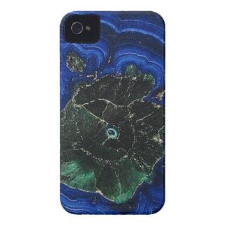 Île de malachite d'azurite coques iPhone 4 Case-Mate