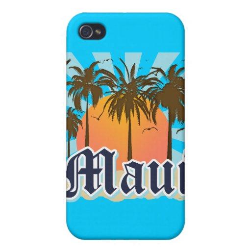 Île de souvenir de Maui Hawaï Coque iPhone 4
