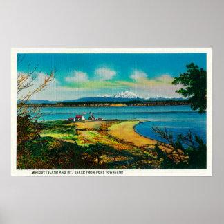 Île de Whidby et Baker de Mt. de port Townsend