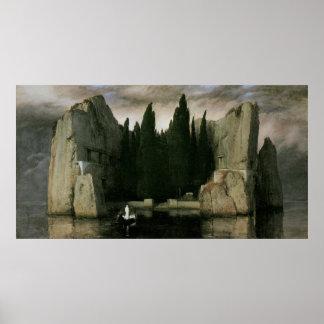 Île des morts troisième version par Arnold Bockli Affiche