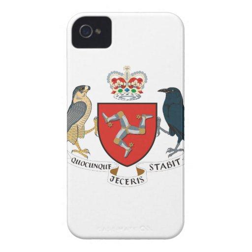 Île du manteau de Mann des bras Coque iPhone 4 Case-Mate