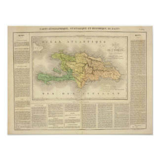 Ile St. Domingue or Haiti Poster