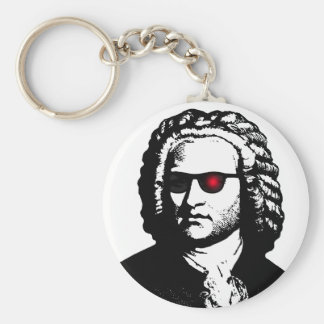 I'll Be Bach Basic Round Button Keychain