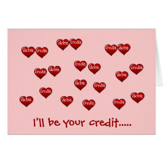 I'll Be Your Credit...  - add a caption Card