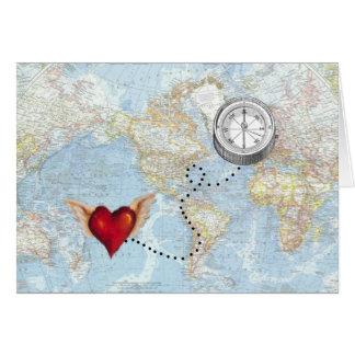 """I'll Follow My Heart"" Long Distance Relationship Card"