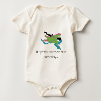 I'll get the teeth to bite someday... baby bodysuit