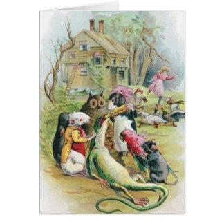 Ill Lizard Takes His Medicine Card