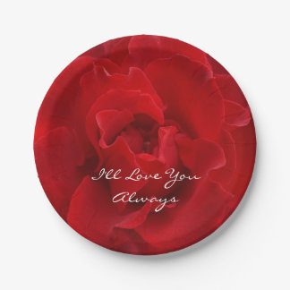 I'll Love You Always 7 Inch Paper Plate