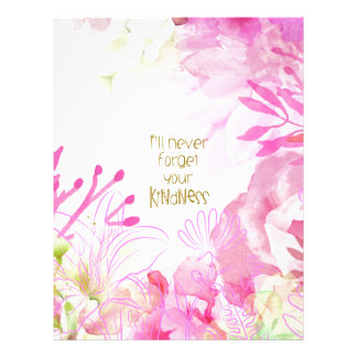 I'll Never Forget Your Kindness Letterhead