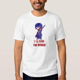 I'll Save The World Samurai Boy T-shirt
