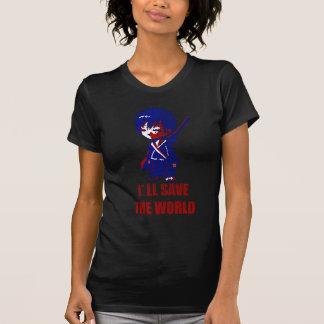 I'll Save The World Samurai Boy Tee Shirts