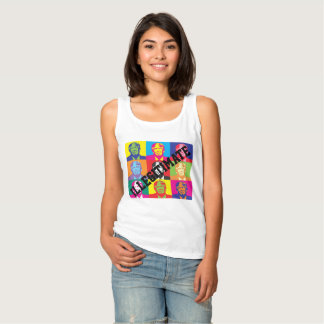 """Illegitimate""  with Rainbow Coloured Trump Faces Tank Top"