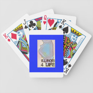 """Illinois 4 Life"" State Map Pride Design Bicycle Playing Cards"