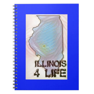 """Illinois 4 Life"" State Map Pride Design Note Book"