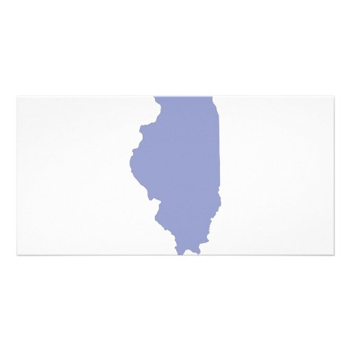 ILLINOIS a BLUE state Personalized Photo Card