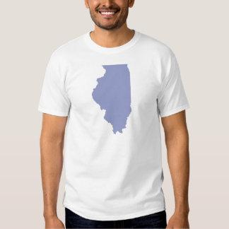 ILLINOIS a BLUE state Tshirts