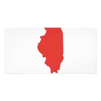 ILLINOIS - a RED State Photo Greeting Card