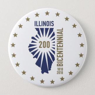 Illinois Bicentennial 1818-2018 4 Inch Round Button