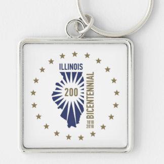 Illinois Bicentennial 1818-2018 Keychain