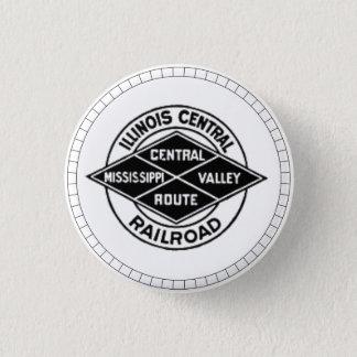 Illinois Central Railroad Vintage Logo Button
