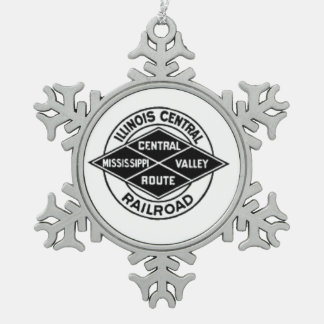 Illinois Central Railroad Vintage Logo Ornament
