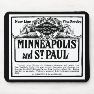 Illinois Central Railroad Vintage Mousepad