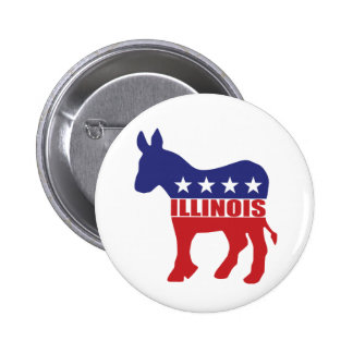Illinois Democrat Donkey Buttons
