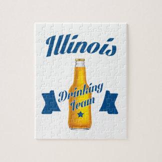 Illinois Drinking team Jigsaw Puzzle