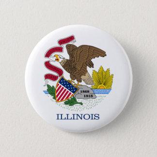 Illinois Flag Button