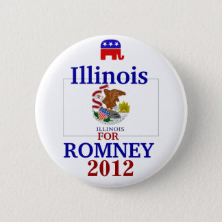 Illinois  for Romney 2012 2 Inch Round Button