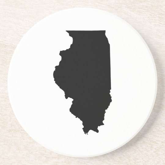 Illinois in Black and White Coaster