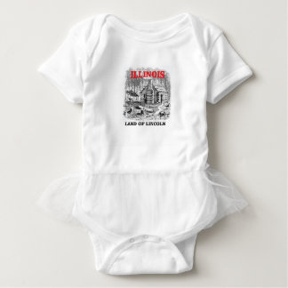 Illinois land of Lincoln Baby Bodysuit