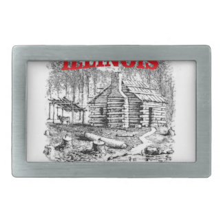 Illinois land of Lincoln Belt Buckle