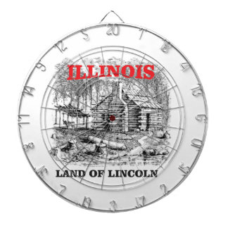 Illinois land of Lincoln Dartboard