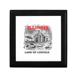 Illinois land of Lincoln Gift Box