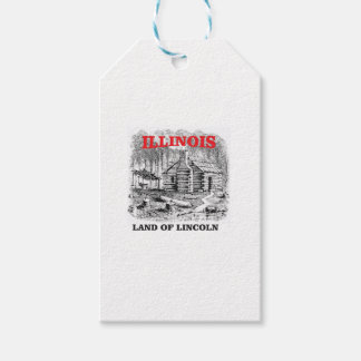 Illinois land of Lincoln Gift Tags