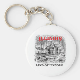 Illinois land of Lincoln Keychain