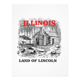 Illinois land of Lincoln Letterhead