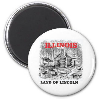 Illinois land of Lincoln Magnet