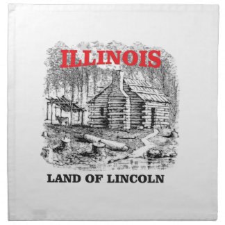 Illinois land of Lincoln Napkin