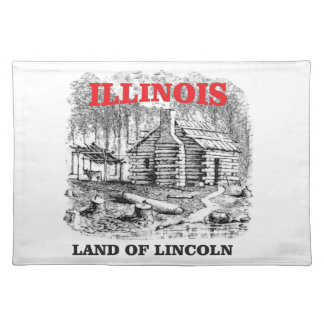 Illinois land of Lincoln Placemat