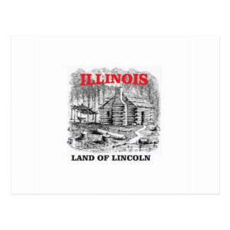 Illinois land of Lincoln Postcard