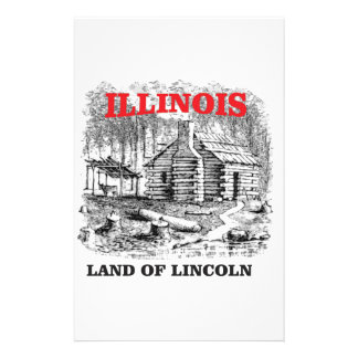 Illinois land of Lincoln Stationery